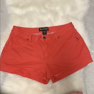 Like an Angel Orange Stretch Shorts